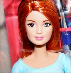 Made To Move (farmspeedracer) Tags: doll toy 2015 nrfb box redhead freckles red hair beauty woman girl yoga playline mattel barbie