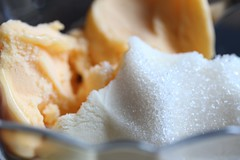 Cold Treat (ShellyS) Tags: orange cold icecream vanilla icy creamsicle sherbet hotcold macromondays