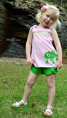 Sewing for Disney: Rapunzel {O+S, Popover Tunic and Class Picnic Shorts (FrancesSuzanne) Tags: francessuzanne olivers oliverands popoversundress popover disney rapunzel pascal classpicnicshorts picnicshorts os