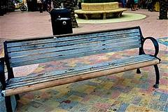 Boardwalk Bench - Happy Bench Monday!!! (LarryJay99 ) Tags: colors bench seaside seats hollywood benches seashore bythesea canonpowershots110 atlanticoast ibench 52260mm