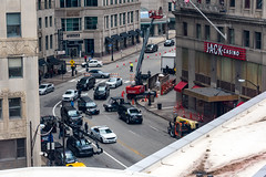 Roll the Camera (jphenney) Tags: movie downtown cleveland filmproduction sportscars movieprops fastfurious fastandfurious8