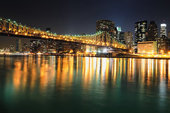 Queensboro (59th Street) Bridge and Midtown Manhattan at Night, NYC (ajohn1992a) Tags: nyc longexposure newyork night manhattan tokina1224 midtown unitednations eastriver fdrdrive queensborobridge rooseveltisland bloombergbuilding bloombergtower 59thstreetbridge citigroupcenter nikoncapturenx nikond90