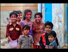 Children of Jodhpur (Kader Lagraa) Tags: life trip travel boy india west colors girl beauty smile true festival children photography photo kid amazing nikon asia child place shot desert image zoom small feel joy innocent experience 28 300 moment lovely nikkor capture pure eastern holi groupe interest vr jodhpur discover rajastan laught 28300 kader puprle abdelkader 38300 d700 lagraa klagraa