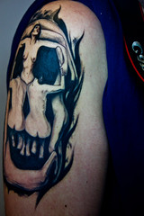 My Tattoo (Jordi.Ebow Photography) Tags: girls tattoo skull dali salvadordali involuptasmors rebeltattoocrew daliskulltattoo