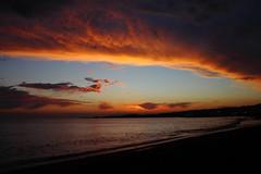 Nuboso atardecer (adriatencia) Tags: espaa sol atardecer mediterraneo playa cielo nubes malaga algarrobocosta