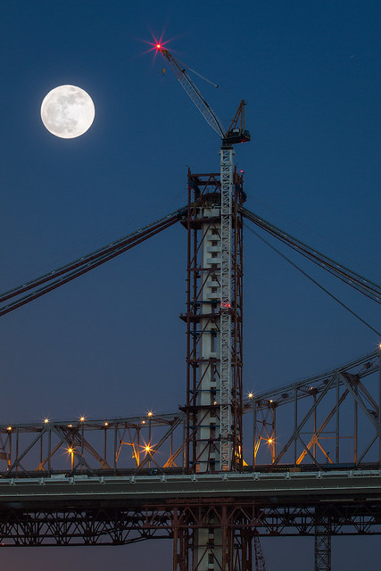 Supermoon 2012 - Bay Bridge