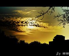Dark Sky (娜 娜☂Nana) Tags: life light sky lake love nature beautiful backlight clouds dark nikon colorful natural taiwan silhouettes 台灣 台灣taiwan i 我愛台灣 d7000