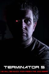 Terminator 5 (CJsarp) Tags: selfportrait norway poster norge flash norwegen manipulation movieposter redeye canon5d terminator ullensaker klfta t800 580exii 430exii cactusv4 5dclassic sigma2470hsm terminator5 cactusremotetrigger