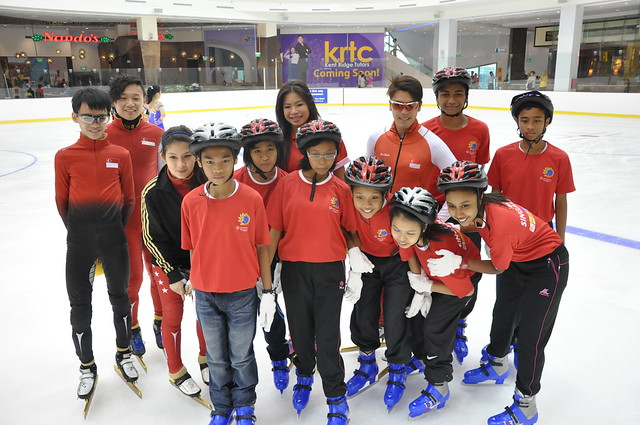 JCube Olympic-sized Ice Rink Singapore