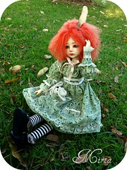 Mirta (Purple  Enma) Tags: park espaa girl up ball ginger other spain doll meeting pd andalucia cordoba bjd resin meet riz mirta isy jointed redhaired planetdoll