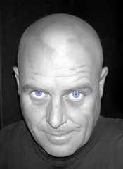 blue eyes (A2L) Tags: blue portrait self eyes cueball colouring selective unclefester herowinner