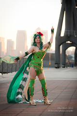 Katie Clark as Rydia (Final Fantasy IV) (wuyilei) Tags: london nikon cosplay may convention cosplayer excel rydia finalfantasyiv d90 londonmcmexpomay2012 mcmexpo2012