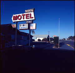 Boron, CA (moominsean) Tags: california sunset desert kodak c motel bronica boron ektar selfdeveloped unicolor komura45mm