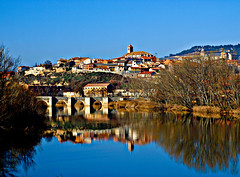 Pasaba vanidoso el ro (Jesus_l) Tags: espaa agua europa valladolid reflexions reflejos puenteromano simancas jesusl