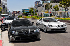 Surprise! Two SLRs (Effspots) Tags: los angeles limited rare exotic exotics losangeles beverlyhills beverly hills rodeo drive dr rodeodrive hollywood carhunting carphotography carspotting cars car auto atutos automobile vehicle european europe gorgeous sexy horsepower hp hot hotel hyper hypercar rims rim luxury luxurious valet photo photography flickr power exclusive fast explore sony nex 7 sonynex7 effspots effspot alpha instagram supercar mclaren slr 722 coupe silver black sunset plaza sunsetblvd sunsetplaza mclarenslr combo epic german germany amg brabus