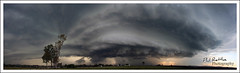 Etched In Time (Phil Rettke) Tags: sunset panorama storm qld queensland epic ipswich chaser supercell stormchase yamanto 21october2008