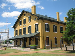 Restored Railroad Depot in Huntsville, Alabama (bluerim) Tags: museum alabama depot huntsvilleal southernrailroad civilwarsite memphischarlestonrailroad passengerdepot