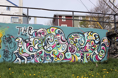Tekar: May15th (Tekar !) Tags: urban streetart canada newfoundland painting graffiti mural stjohns urbanart octopus eastcoast fragmented atlanticcanada abstracted tekar choicesforyouth