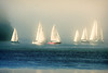 Sailing in the Mist (Peggy Collins) Tags: ocean blue sea mist canada misty boats sailing britishcolumbia pacificocean sail sailboats sunshinecoast thisiscanada peggycollins