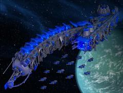 Blockade Runner (Bart De Dobbelaer) Tags: lego space runner blockade battlecruiser microscale ironbuilder