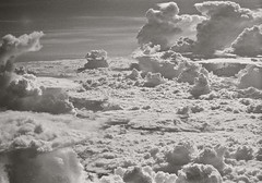Sri Lankan Clouds (Follow The Swallow) Tags: blue shadow sky blackandwhite bw orange film strange clouds contrast analog plane vintage lens airplane landscape photography exposure view noiretblanc quality patterns air indianocean grain calming atmosphere 200asa oldschool emirates thoughts filter dreamy srilanka unusual unreal corny astral imaginary rare fujica st705 breathtaking avion abovetheclouds meditative filtre contemplatif 80mm smoothing moony poesy oceanindien idealistic phenomenom justclouds golfedubengale gulfofbengal