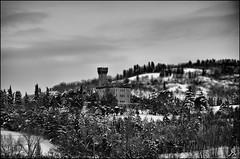 Under the snow (8) (Alessandro Giorgi Art Photography) Tags: street trees light snow tree fountain alberi night lights la under bank covered edge neve luci bianca albero sotto notte luce snows siepe cumulo nevica ricoperti