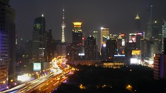 Shanghai - Cityscape (cnmark) Tags: china road city light building tower night skyscraper buildings geotagged noche highway cityscape sha