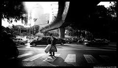 Bagman (aizuddindanian) Tags: street bw contrast shadows grain olympus panasonic kuala noise 169 lumpur omd filmnoir f50 14mm darks aizuddin em5 danian
