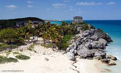 Site Maya de Tulum - Photo 10 (CGDP) Tags: sea mer beach rock mexico nikon maya pierre ngc yucatan tulum playa mexique fx paysage plage d800 dx vestige momunent nikoniste pixelistes nikonpassion péninsuleduyucatan cgdp afs24mmf14g