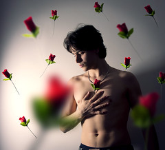 I miss you so much... (Rubn Chase) Tags: flowers roses portrait selfportrait flores love self you chase romantic rosas levitating freeflyer09