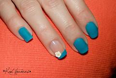 • Fimo - Florzinha • (Kah Tavares) Tags: azul flor fimo aguafresca unha francesinha unhasdecoradas unhacomfimo unhasimples