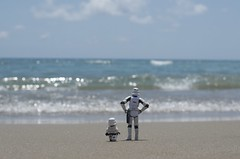 Do you think we'll find the droids? (Kalexanderson) Tags: family sea stilllife trooper toys photography starwars play sweden stockholm father son stormtrooper emotions familylife ordinarylife realtions