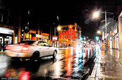 Night Shot 4/8 - Ottawa  05 12 (Mikey G Ottawa) Tags: street city light ontario canada motion blur colour rain night dark lowlight mainstreet shiny shine nightshot nacht ottawa pluie iso motionblur rainy highstreet farbe nuit couleur regen iso1600 bankstreet 1600iso rainynight mikeygottawa