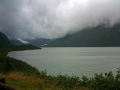 To Whittier (Tiigra) Tags: travel usa lake snow nature rain fog alaska landscape iphone 2011