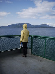 Ferry to Lopez Island (Polyfuchs) Tags: california seattle santa new trip west bicycle vancouver cycling coast check orleans san francisco cross florida country bridgestone southern cruz surly tier ortlieb warmshowers