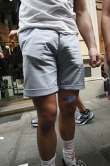 Il cerotto (federica.poluzzi) Tags: guy legs skin plaster bologna gaypride federica cerotto 2012 gamba poluzzi