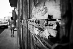 Rust and Wood (B&W) (TasosCon) Tags: cyprus larnaca oldneighborhood