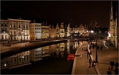Korenlei en Graslei in Gent (claude lina) Tags: belgique lys gent gand belfort graslei leie flandres kouter beffroi ringexcellence dblringexcellence