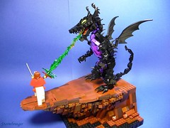 Maleficent (Stormbringer.) Tags: rock dragon lego plateau disney moc maleficent