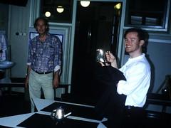 David and Ed (the justified sinner) Tags: david film netherlands amsterdam 35mm ed meeting slide transparency scanned conference teapot webster justifiedsinner vakschool