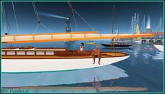 On regarde son reflet dans l'eau (Tim Deschanel) Tags: life sea mer water john boat tim eau sailing magic sl reflet reflect second sail bateau deschanel kelty joly keltyana