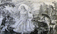 Phillip Medhurst Collection print 10. The Almighty. Genesis  1 v 24-25. Passi (The Phillip Medhurst Collection) Tags: print bibleillustration creation bible prints genesis torah oldtestament bibleillustrations tanakh pentateuch bookofgenesis booksofmoses bowyerbible phillipmedhurst