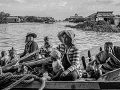 Cambodian floating people (Ryusuke Komori) Tags: street travel people lake cambodia floating