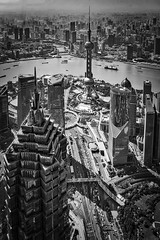 Shangahai from the SWFC BW (ismcgregor68) Tags: china city bw monochrome skyline shanghai swfc