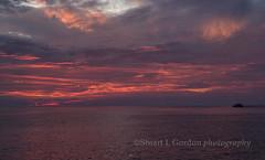 Ocean Sunrise Near Genovesa Island, Galapagos, Ecuador (chasingthelight10) Tags: ocean travel nature sunrise island photography landscapes ecuador seascapes wildlife events places things galapagos coastal sunrises darwinbay genovesaisland