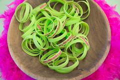 Wristbands (assortedstuff) Tags: pink green wristband