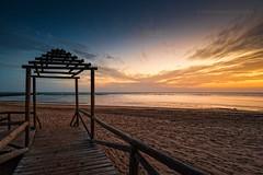 Punta Candor (Javier Martinez de la Ossa) Tags: sunset espaa beach landscape andaluca spain playa puestadesol cdiz ocaso atlntico anochecer rota horaazul bahiadecdiz puntacandor javiermartinezdelaossa