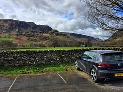 The GTI In The Borrowdale Valley (Marc Sayce) Tags: park 6 lake mountains vw golf volkswagen district hills national valley gti 2009 mk vi 2010 borrowdale 2011 mk6 rosthwaite