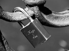 Amores rusos (Franco DAlbao) Tags: bw love ties iron fuji symbol amor bn forever padlock eternal hierro smbolo candado eterno atadura dalbao francodalbao
