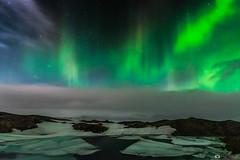 Northern Lights (Fabio tomat) Tags: winter sky mountains ice water night clouds stars iceland nikon north aurora northernlights auroraborealis jkulsrln islanda auroraboreale nikon1424f28ed fabiotomat nikond750